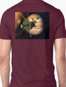 Galileo probe, Io and Jupiter. Unisex T-Shirt
