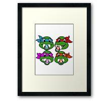 Baby Ninja Turtles  Framed Print