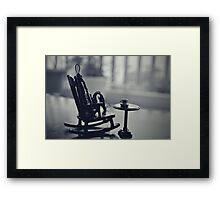 Mr. Wire | Along this tightrope of Wire to stand by. Framed Print