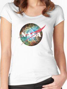 NASA Logo - Hubble, Crab Nebula Women's Fitted Scoop T-Shirt