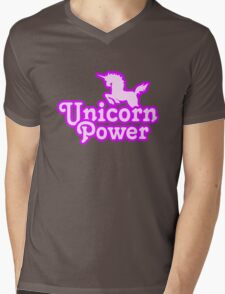 Unicorn Power Mens V-Neck T-Shirt