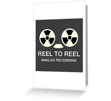 Vintege reel to reel Greeting Card