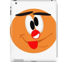 A smiley with a clown nose iPad Case/Skin