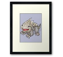 Baby Bulette / Land Shark Framed Print