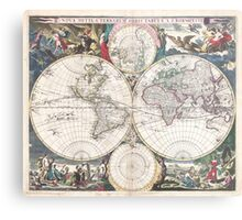 Vintage Map of The World (1685)  Metal Print