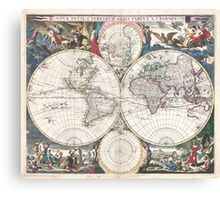 Vintage Map of The World (1685)  Canvas Print
