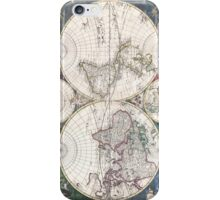 Vintage Map of The World (1685)  iPhone Case/Skin
