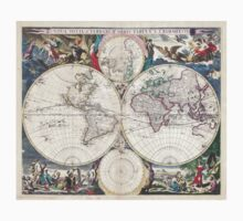 Vintage Map of The World (1685)  T-Shirt