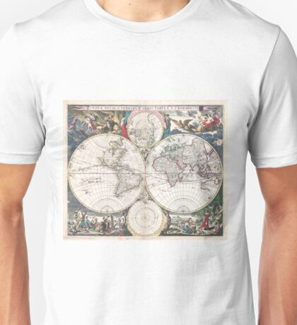 Vintage Map of The World (1685)  Unisex T-Shirt