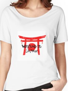 Welcome To Japan Red & Black Women's Relaxed Fit T-Shirt