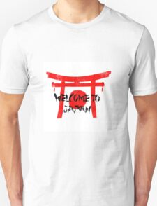 Welcome To Japan Red & Black Unisex T-Shirt