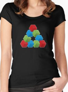 RGB Penrose Lego Women's Fitted Scoop T-Shirt