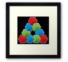 RGB Penrose Lego Framed Print