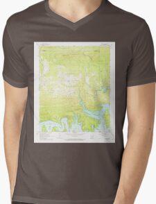 USGS TOPO Map Arkansas AR Fannie 258439 1962 24000 Mens V-Neck T-Shirt