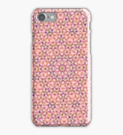Pink Purple and Green Stripes and Triangle Pattern iPhone Case/Skin