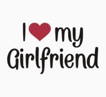 I love heart my girlfriend Kids Tee