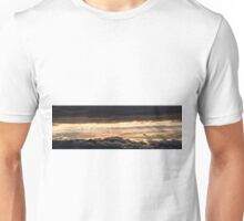 Majestic sunset from Monte Nerone, Italy Unisex T-Shirt