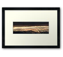 Majestic sunset from Monte Nerone, Italy Framed Print