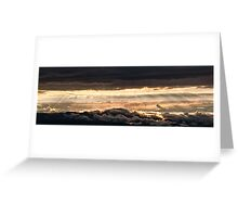 Majestic sunset from Monte Nerone, Italy Greeting Card