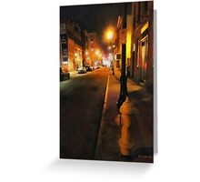 Saturday Night on State Street Greeting Card