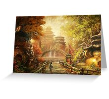 Asian Landscape Greeting Card