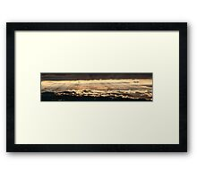 Wonderful golden sunset from Monte Nerone, Italy Framed Print