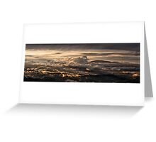 Majestic sunset taken from Monte Nerone, Italy Greeting Card
