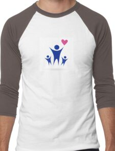 Family, Health and Community icon isolated on white Men's Baseball ¾ T-Shirt