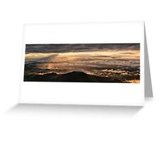 After the storm, Monte Nerone, Italy Greeting Card