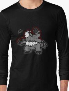 Pangoro Distressed Style Long Sleeve T-Shirt