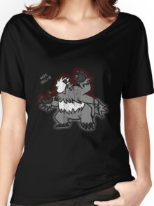 Pangoro Distressed Style Women's Relaxed Fit T-Shirt