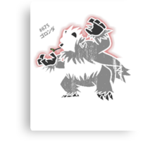 Pangoro Distressed Style Canvas Print
