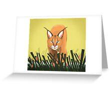 Caracal big cat Greeting Card