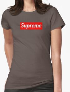 Supreme | Small | Red Background | High Quality!  Womens Fitted T-Shirt