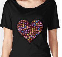 Love Emoji Trendy Fashion Women's Relaxed Fit T-Shirt