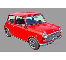 Red Mini Cooper Antique Car Photographic Print
