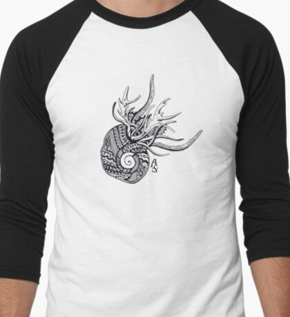 Abstract snail Men's Baseball ¾ T-Shirt