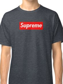 Supreme | Large | Red Background | High Quality!  Classic T-Shirt