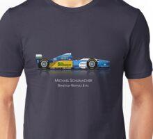 Michael Schumacher - Benetton Renault B195 ( Dark background print ) Unisex T-Shirt