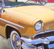 1955 Lincoln Capri Luxury Car And American Flag Sticker