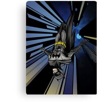 Batman diving from building Canvas Print