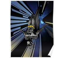 Batman diving from building Poster