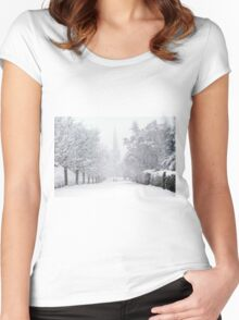 Off To Church.......!! Women's Fitted Scoop T-Shirt