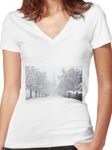 Off To Church.......!! Women's Fitted V-Neck T-Shirt