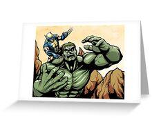 Hulk v. Wolverine Greeting Card