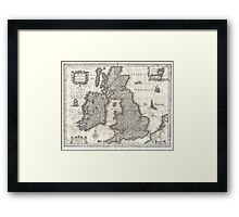 Vintage Map of England and Ireland (1631)  Framed Print