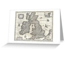 Vintage Map of England and Ireland (1631)  Greeting Card