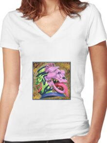 pot of desire! Women's Fitted V-Neck T-Shirt