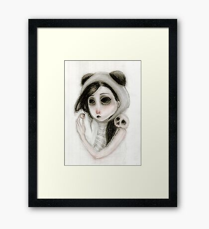 The inability to perceive with eyes notebook I Framed Print