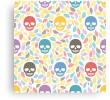 Funny sugar skulls Canvas Print